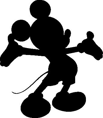 Mickey completely black so that the image turned into this shapeMickey Mouse Ears Png