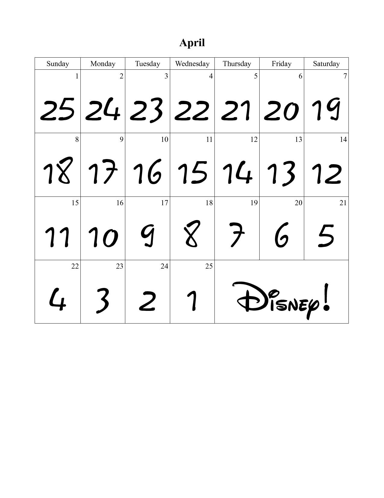 Yes, that is a Disney font for the countdown numbers. Here's a high ...