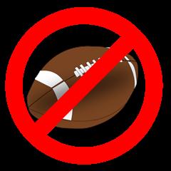 no playing football sign