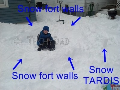 how to build a snow fort roof