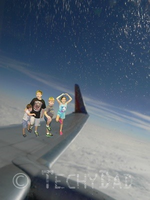 Kids On An Airplane Wing