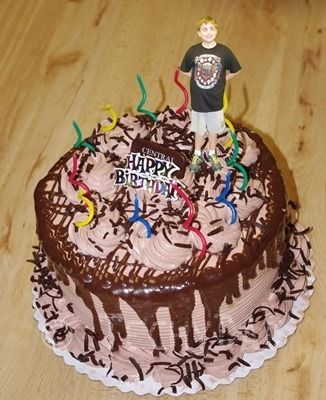 NHL on His Cake