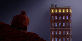 "In Walt Disney Animation Studios' ""Wreck-It Ralph,"" video game ""bad guy"" Ralph (voice of John C. Reilly) spends his lonely evenings gazing at the apartment building that it's his job to destroy...©2012 Disney. All Rights Reserved."
